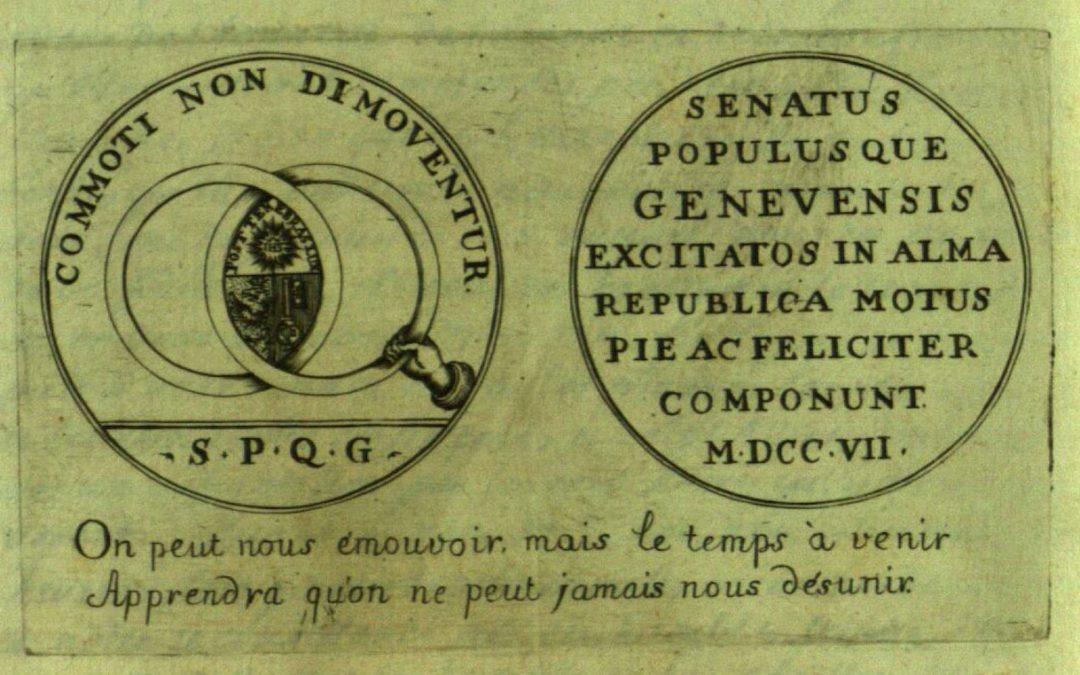 « Les élections que fait le peuple », République de Genève, vers 1680 – 1707